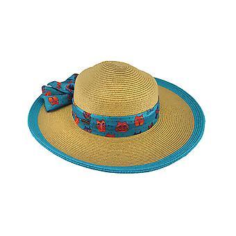 Laurel Burch Art Scarf Band Colored Trim Paper Braid Sun Hat