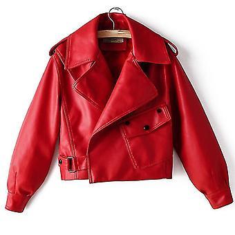 Őszi kötött magas derék meleg bőrkabát / kabát