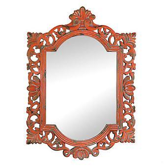 Accent Plus Vintage-Look Ornate Wood Frame Mirror, Pack of 1