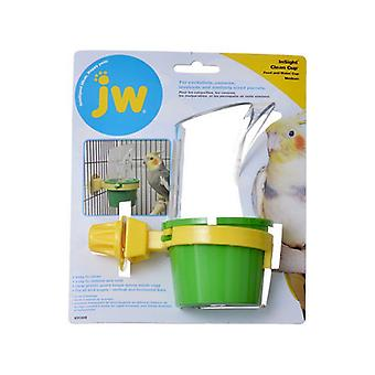 """JW انسايت نظيفة كأس تغذية وكأس المياه - متوسطة (3 """"القطر × 5.5"""" طويل القامة)"""