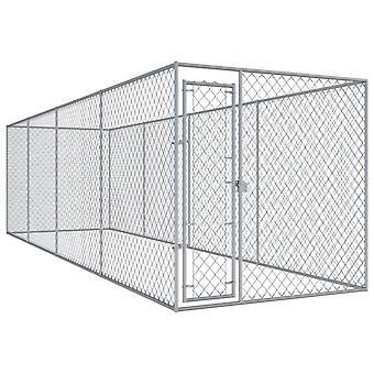 Hund udendørs bur 7,6x1,9x2 m