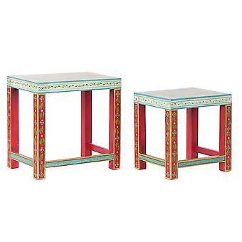 Stolik boczny DKD Home Decor Akrylowe drewno mango (2 szt.) (45 x 30 x 45 cm) (34 x 25,5 x 37,5 cm)