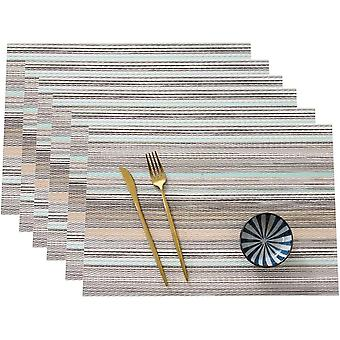 6-piece Insulated Placemat, Durable Kitchen Table Mat