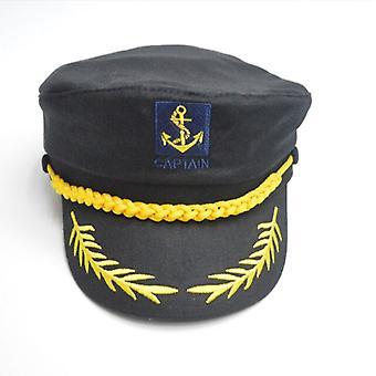 الكبار يخت القبعات العسكرية قارب ربان السفينة بحار الكابتن زي قبعة قابل للتعديل كاب البحرية البحرية الأدميرال للرجال النساء