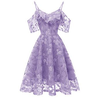 Vintage Swing Formal Evening Lace Dress For Women
