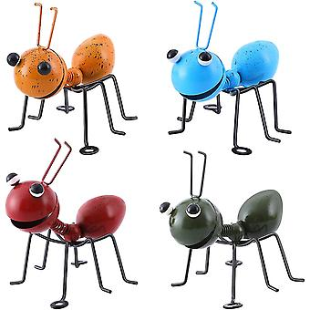 Garden Ornaments Outdoor 4pcs - Metal Ant Wall Art Decorations For Yard Outdoor Sheds Fences(10108cm, 4 Coloured)