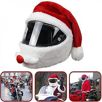 銭オートバイヘルメットカバーサンタクロースクリスマスハット屋外