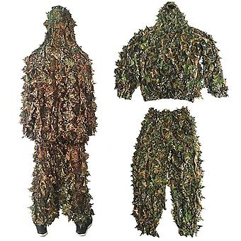 Männer Outdoor Ghillie Anzug Tarnkleidung Dschungel Cs Trainingskleidung Hose Kapuzenjacke L Größe