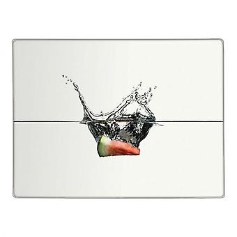 Água melão fatia vidro bancada Saver cozinha cortar a placa de corte