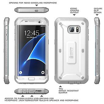 Galaxy S7 Edge Case, SUPCASE,Unicorn Beetle Pro Series, without Screen Protector- White/Gray