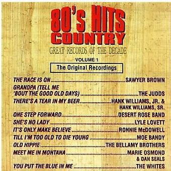 Great Records of the Decade - 80's Hits Country No. 1 [CD] USA import