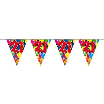Pennant chain 10 m number 21 years birthday decoration party Garland