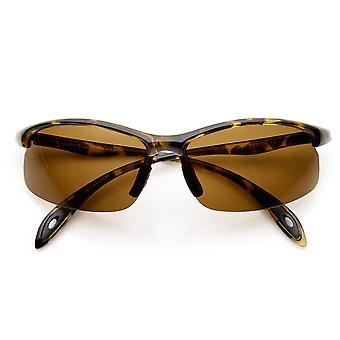 Polarized Half Frame Lightweight Action Sports Sunglasses