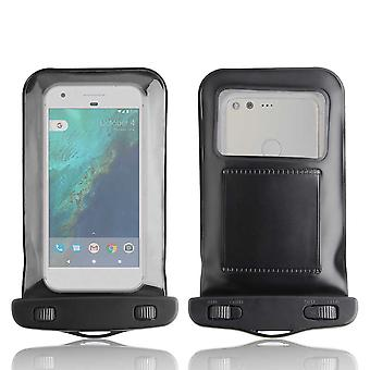 InventCase vedenpitävä Dustproof laukku Case Suojakotelo Google Pixel - musta