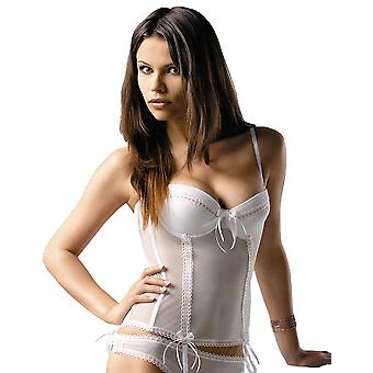 Gracya Paola White and Pink Basque 131