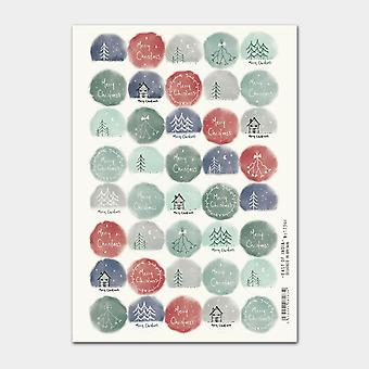 East of India Christmas Cream Drawn stickers Single Sheet 40 Stickers Xmas Craft
