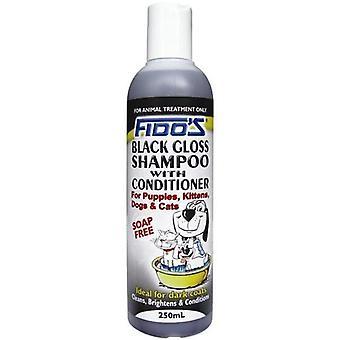 Fidos musta kiiltävä Shampoo 250ml