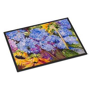 Hydrangeas and Sunflowers Indoor or Outdoor Mat 24x36
