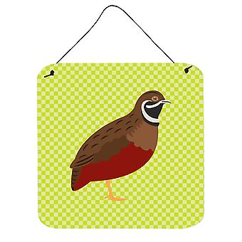 Chinese Painted or King Quail Green Wall or Door Hanging Prints