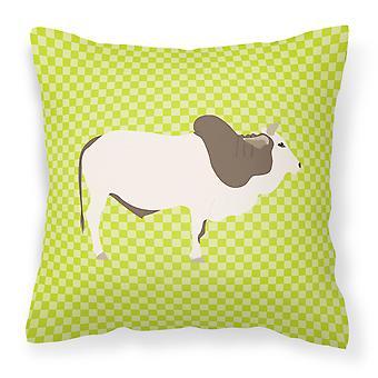 Carolines schatten BB7656PW1414 Malvi koe groen stof decoratieve kussen