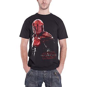 Star Wars T Shirt sidste Jedi Elite Prætorianergarden sværtet officielle Herre sort