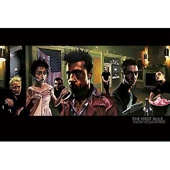 The First Rule (Fight Club) Poster Print by Justin Reed (36 x 24)