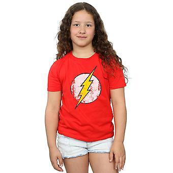 DC Comics Girls Flash Distressed Logo T-Shirt