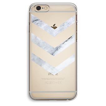 iPhone 6 Plus / 6S Plus caja transparente (suave) - flechas de mármol