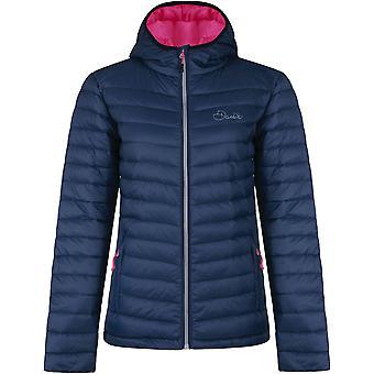 Uskalla 2b naisten/naisten nostoa hupullinen sulka takki ylempää
