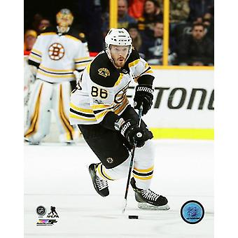 David Pastrnak 2017-18 akcji Photo Print