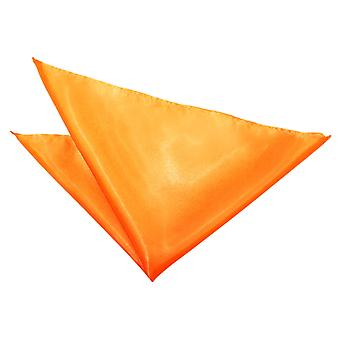 Fluorescent Orange Plain Satin Pocket Square