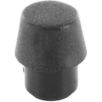 Picior circular, fixare șurub negru (Ø x H) 9 mm x 10 mm 1 buc (e)