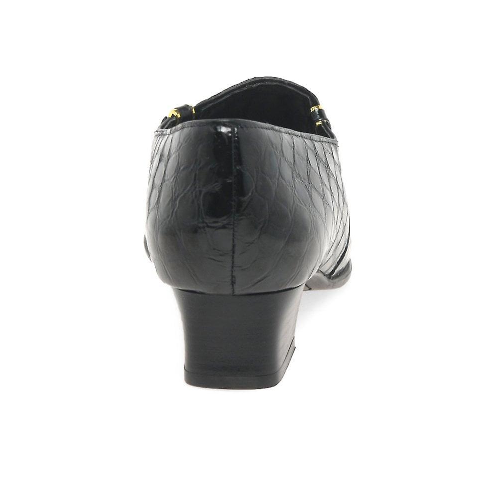 Van Dal Elsa Black Patent Croc Dress Sko