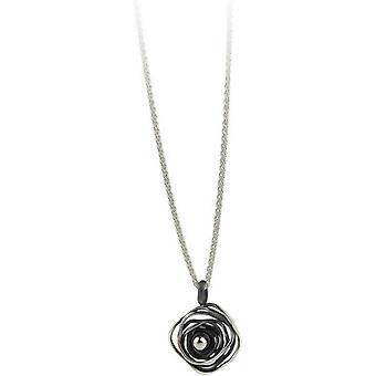 Ti2 Titanium Circular Chaos Pendant - Black