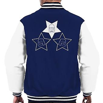 Original Stormtrooper Helmet Line Art Stars Men's Varsity Jacket