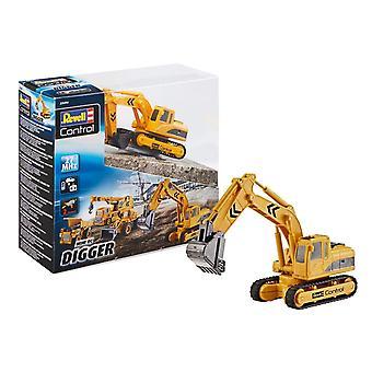 Revell controle 23496 Miniescavadora do RC, amarelo