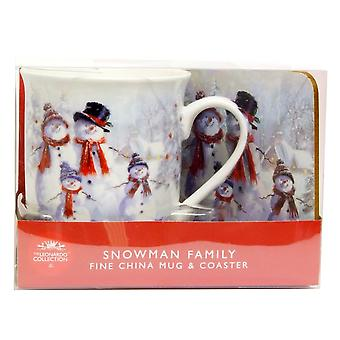JOE DAVIES Mug And Coaster Set LP93036 White Snowman