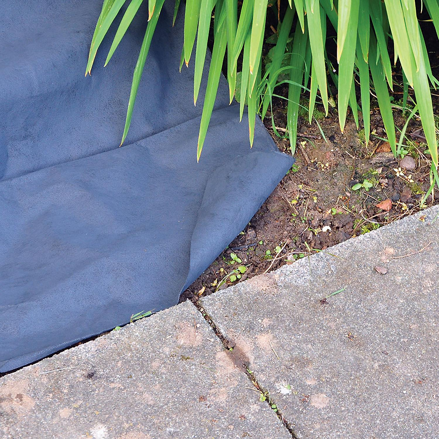 Kingfisher WG1 50gsm Weed Guard Control Membrane Cloth Fabric sheet Roll 8m x 1.5m - Ideal for Borders, Paving, Paths, Decking and Landscaping