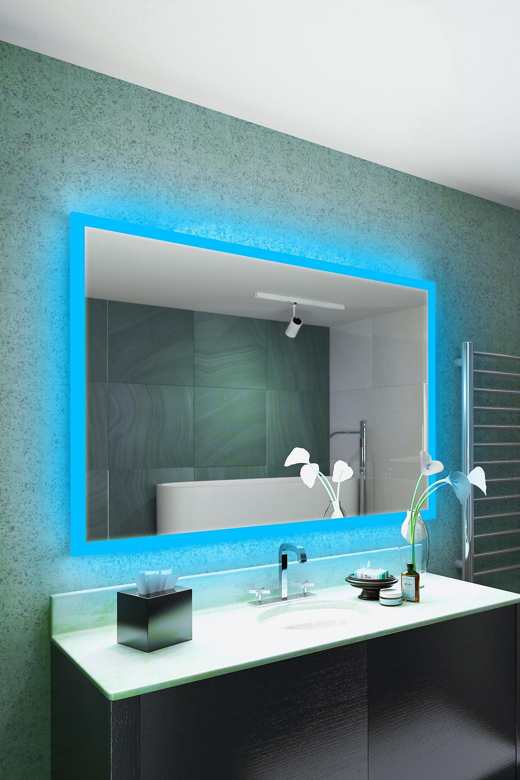 K8402hrgbaud capteur de désembuage miroir rasoir Audio RGB avec Bluetooth