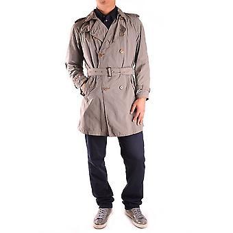 Aspesi Ezbc067003 Men's Grey Polyester Trench Coat