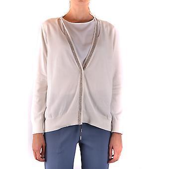 Fabiana Filippi Ezbc055017 Women's White Cotton Cardigan