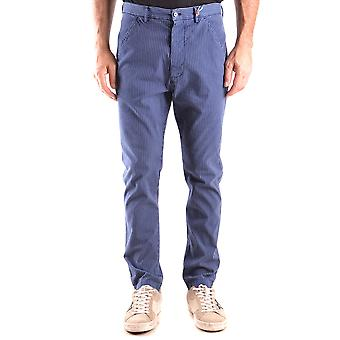 Daniele Alessandrini Ezbc107057 Men's Blue Cotton Pants