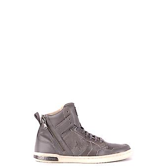 Converse Ezbc119039 Men's Grey Leather Hi Top Sneakers