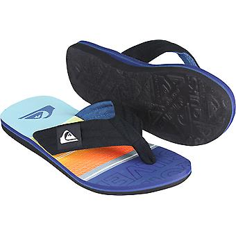Quiksilver Mens Molokai Layback Sandals - Black/Orange/Blue
