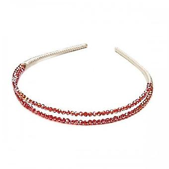 Intrigue Womens/Ladies Two Layer Glass Beaded Headband