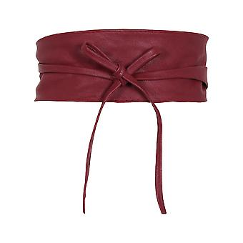 KRISP  Women Soft Faux Leather Wide Self Tie Wrap Around Obi Waist Band Cinch Boho Belt