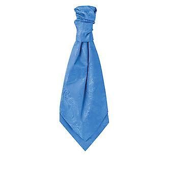 Dobell Mens Royal Blue Paisley Cravat