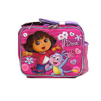 Lunch Bag - Dora the Explorer - w/ Boots Pink Kit Case New 622077