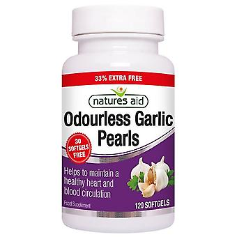 Nature's Aid Garlic Pearls (Odourless) One-a-day Softgels 120 (13335)