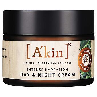 A'kin Intense Hydration Day & Night Cream Natural Australian Face Skin Care 50ml